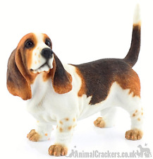More details for basset hound ornament sculpture figure lifelike leonardo figurine gift boxed