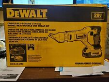 New listing Dewalt Dcs494M220V 14ga Swivel Head Double Cut Shears Kit w/ 2 4.0ah & Charger