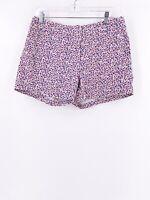 J. Crew Women's Floral Shorts Size 8 100% Cotton Multicolor Summer Boho