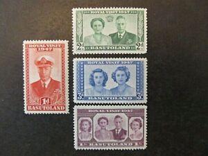BASUTOLAND, SC# 35-38, ROYAL VISIT (1947) MNH, GD