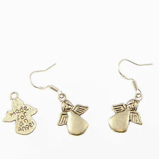 Made for an angel dangly drop earrings sterling silver hooks xmas gift 1.8cm