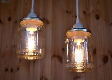 Pendant light of a canning jar, mason jar, rustic light, lamp, lighting fixtures