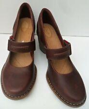 Women's Clarks Carleta Prato Leather Burgundy High Heel Shoes - UK 5.5 D EUR 39