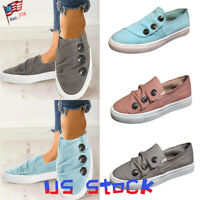 New Casual Women Girls Flat Shoes Comfort Slip On Pleated Sneakers Loafers US