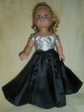 18 doll clothes fits American girl & My Life - Satin evening gown, headband/bow