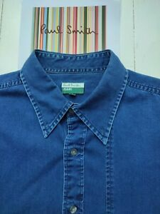 Paul Smith DARK DENIM SHIRT - MED - Loose Fit -  Great Condition & VERY COOL !!!