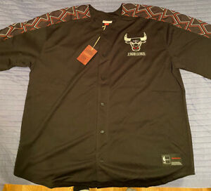 chicago bulls mitchell and ness HWC Jersey 3XL New With Tags NBA  Button Up