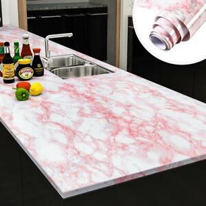 New Vinyl Self Design Marble Wallpaper Renew Dining Table Kitchen Cupboard