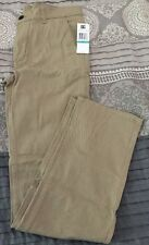 Dc Shoes Co ~ Boy's Chinos Khakis ~ Size 16 Flat Front Nwt Msrp $45 Cotton Blend