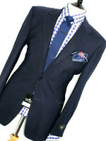 BNWT MENS VERSACE CLASSIC NAVY TEXTURED CLASSIC TAILORED SUIT 40R W34