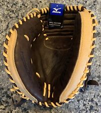 "Left Handed Catchers Mitt Mizuno Franchise Series Baseball 33.5"" New NWOT Pro"