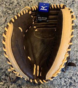 "Left Handed Catchers Mitt Mizuno Franchise Series Baseball 33.5"" New Pro"