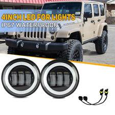 "4""Inch 30W LED Round Fog Light Driving Lamp DRL For 07-17 Jeep Wrangler JK JKU"