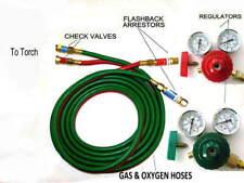 Devardi Glass Lampworking Oxygen/propane Torch regulator, hose kit 2 inch gauges