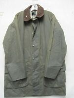 V6637 Barbour England Made Green Oiled Cotton Zip/Snap Up Coat Men's 42