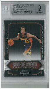 2009-10 Playoff Contenders STEPHEN CURRY RC Rookie of the Year  #10 ~ BGS 9 MINT