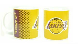 LOS ANGELES LAKERS CERAMIC FADE MUG COFFEE TEA CUP NBA BASKETBALL MUG