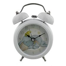 Disney Baby White Traditional Bell Alarm Clock with Dumbo Clock Face DI279