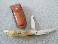 1970 CASE XX 10 dot 5265 SAB stag 2 blade knife/lanyard hole, leather