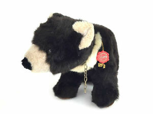 Hermann Germany Standing On All Fours Black Brown Plush Grizzly Teddy Bear