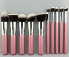 10Pcs Cosmetic Make-up Brushes Face Powder Blusher Foundation Kabuki Contour Set