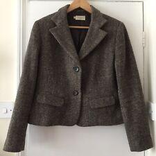 TOAST Brown Tweed Wool Blazer Jacket Size 16