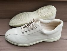 ECCO Tan Off White Leather Lace Up Shoes Women's EU 41 US 10-10.5