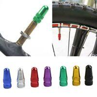 2 x BIKE ALUMINIUM PRESTA VALVE CAP LIGHT DUST COVER BICYCLE MTB FIXIE ROAD RACE