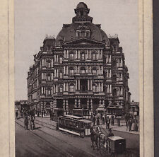 New York Post Office 1890's Street View photo-lith Coffee Advertising Trade Card
