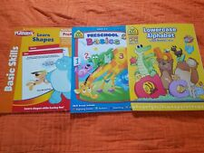 Preschool School Zone & Playskool Workbooks ~ Lor 4 ~ Shapes, Basics, Alphabet,