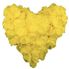 Yellow Silk Rose Petals Wedding Flowers Decoration Table Scatter Floral Confetti