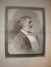 Portrait print Artist Frederic Leighton 1886