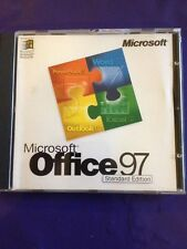 MICROSOFT OFFICE 97 STANDARD UPGRADE WINDOWS WORD EXCEL OUTLOOK WITH PRODUCT KEY