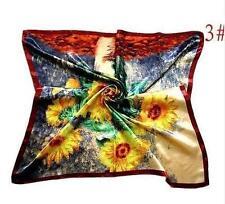 "New Womens Big Square Silk-like Satin Large Scarf Wrap 35""*35"" Printing shawl 3#"