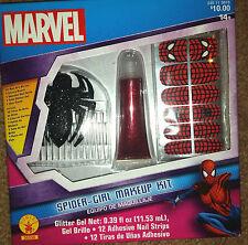 New !  Marvel Spider-Girl Makeup Kit Nail art/glitter Gel Hair accessorie