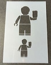 Larry the Barista Lego Mylar Reusable Stencil Airbrush Painting Art DIY Home
