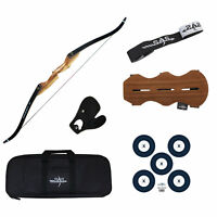 "SAS Courage 60"" Hunting Takedown Recurve Archery Bow Package"