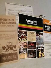 Vintage 1970s Admiral Solarcolor Color Television Brochure Advertising Lot