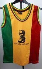 RED GOLD /& GREEN BASKETBALL VEST TOP RASTA REGGAE ROOTS S.M.L.XL.XXL V2