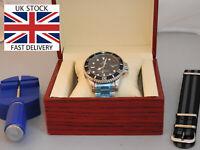 Seamaster Submariner Homage GREEN Luxury Box N.A.T.O Strap Tool FREE Del*