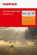 10Sheets A4 Self-adhesive 100% Waterproof  Repeated Sticky Photo Paper Fabric AU