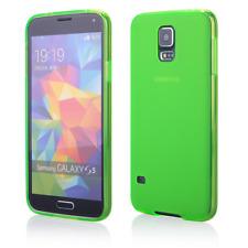 Custodia in TPU Sottile Satinato Verde per Samsung Galaxy S5 G900F