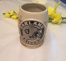 Oakland Raiders Ivory Beer 12 Ounce Football Mug 3D Graphics Mint Condition