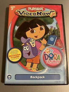 "PLAYSKOOL VIDEO NOW jr. NICK jr DORA THE EXPLORER ""BACKPACK"" CARTOON PVD DISC"
