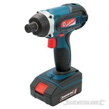 """NEW IMPACT DRIVER 18V LI-ION BATTERY 1HR CHARGER 1/4"""" HEX BIT SILVERLINE 268895"""