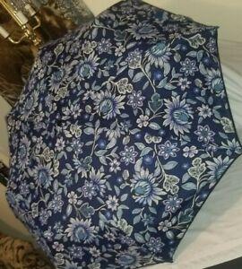 Vera Bradley Umbrella Auto open/close New 23774-P72 Tropics Tapestry blue floral