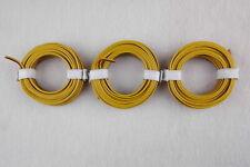(1m = EUR 0,397€) Zwillingslitze gelb/braun  3 x 5m      -- NEU --