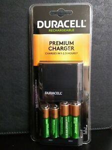 Duracell Premium Charger with (2)-AA / (2)-AAA Rechargeable Batteries INCLUDED