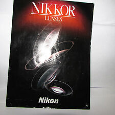 Nikon Nikkor Lenses Brochure List 1996 micro information guide Catalog