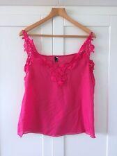 Women's Strappy, Spaghetti Strap No Pattern Chiffon Hip Length Tops & Shirts